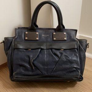 Rag & Bone Navy small pilot leather bag